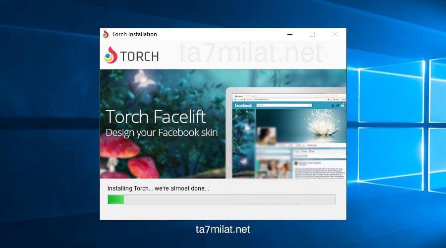 متصفح تورش تقدم عملية التثبيت