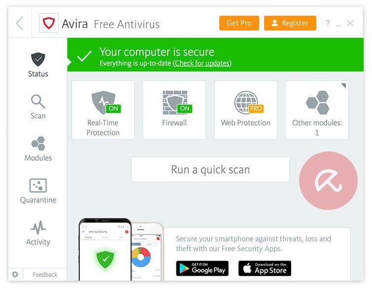 برنامج Avira Free Antivirus