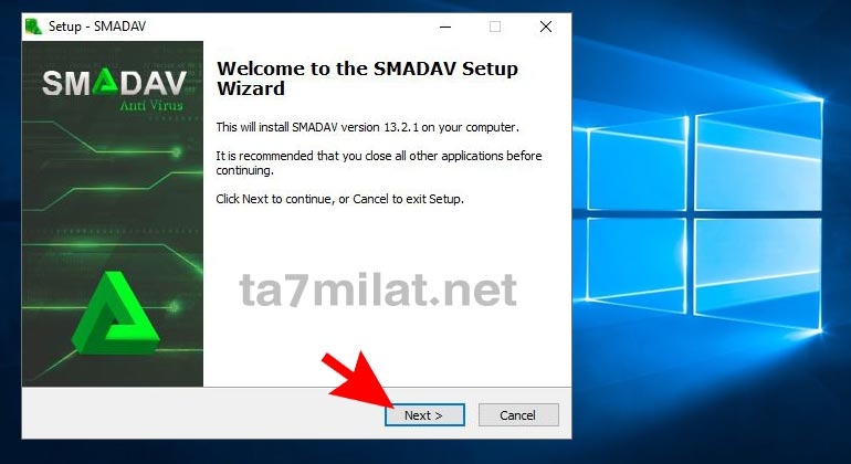 خطوات تثبيت برنامج سماداف للكمبيوتر
