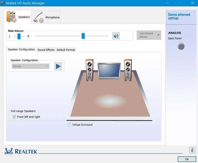 برنامج Realtek HD Audio Manager تعريفات الصوت ويندوز 10 8 7 xp
