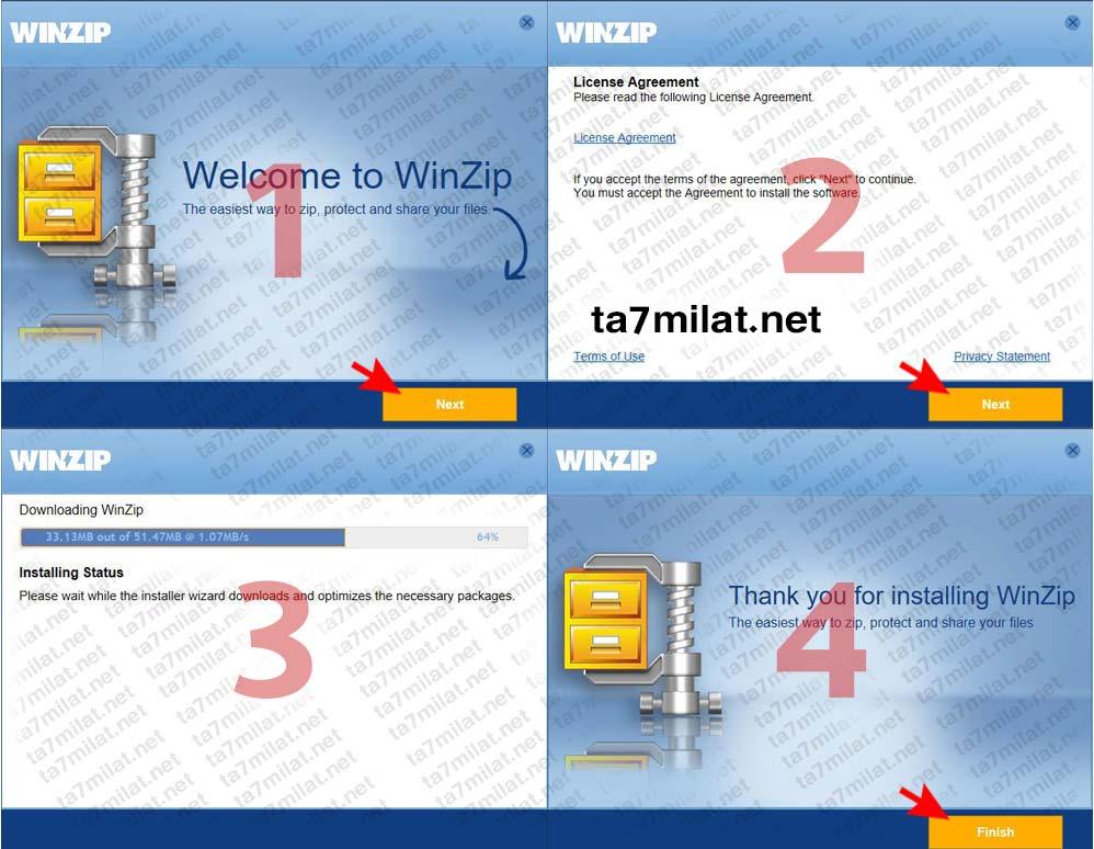 تثبيت winzip 24 علي الكمبيوتر