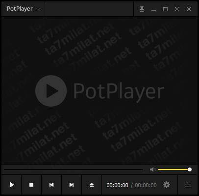 واجهة برنامج PotPlayer للكمبيوتر
